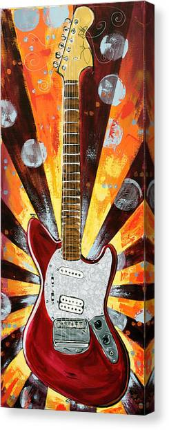 Red Jag-stang Canvas Print