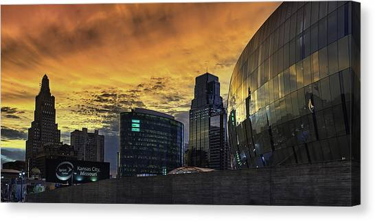 Interstates Canvas Print - Red Kc by Thomas Zimmerman