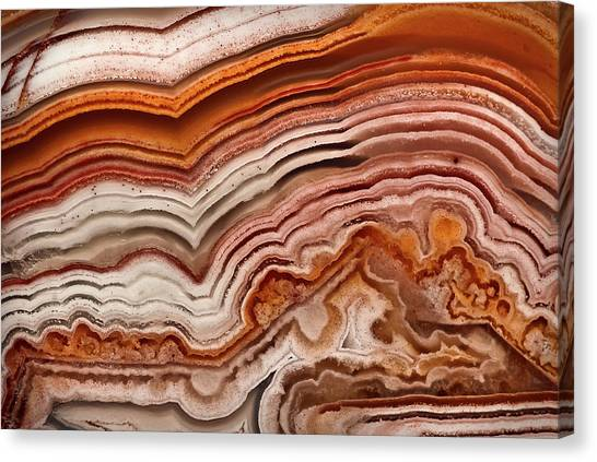 Red Laguna Lace Agate Canvas Print
