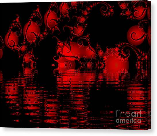 Red Lake Cave Fractal Canvas Print
