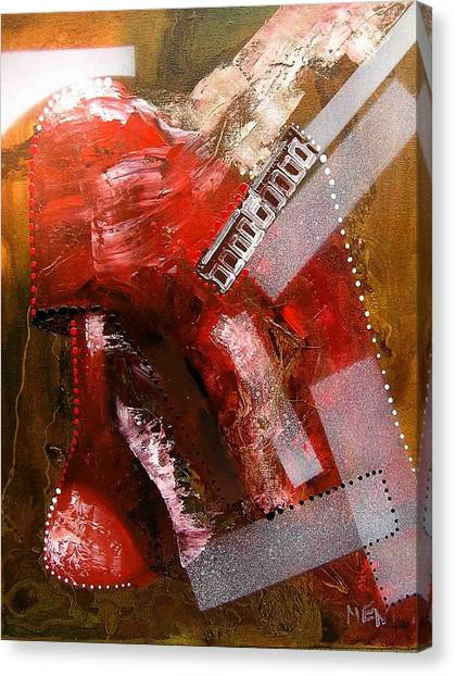 Red Lamp Transformation Canvas Print by Evguenia Men