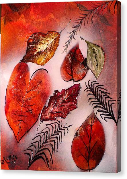 Red Leaves Canvas Print by Susan Kubes