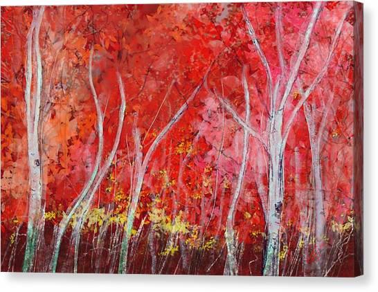 Crimson Leaves Canvas Print