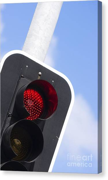 Stoplights Canvas Print - Red Light by Jorgo Photography - Wall Art Gallery