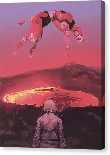Science Canvas Print - Red Lion by Scott Listfield