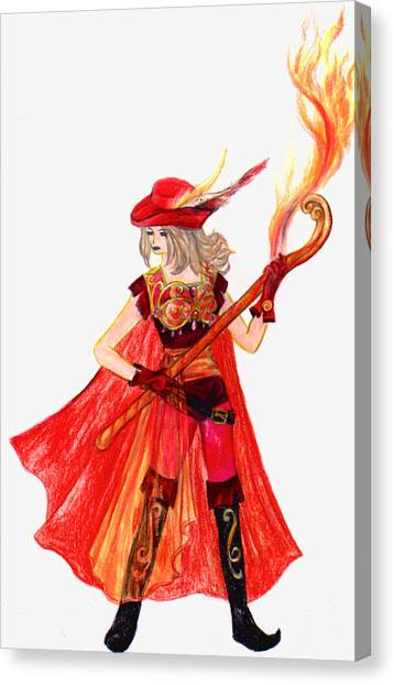Final Fantasy Canvas Print - Red Mage by Rebecca Tripp