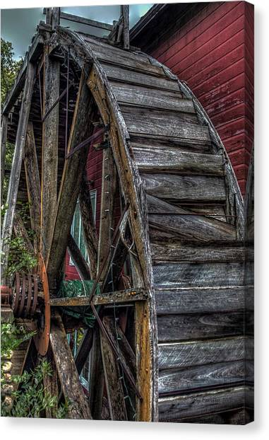 Red Mill Wheel 2007 Canvas Print