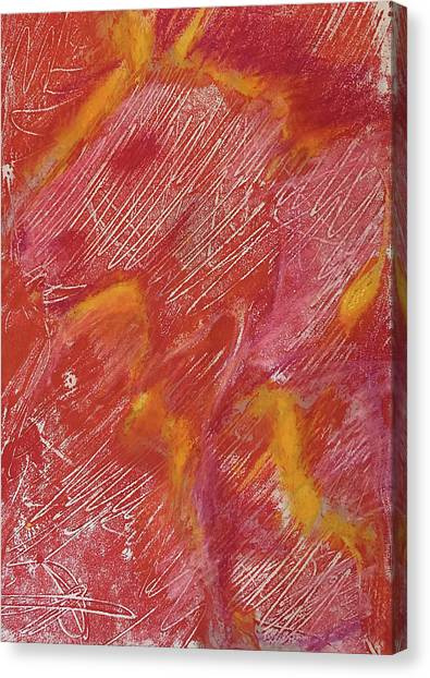 Red Monoprint One Canvas Print