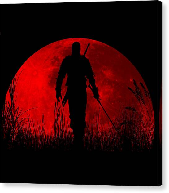 Xbox Canvas Print - Red Moon by Danilo Caro
