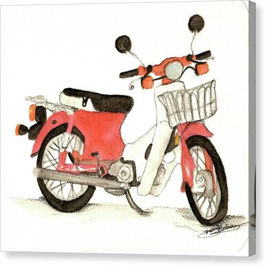 Red Motor Bike Canvas Print