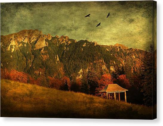 Red Mountain Canvas Print by Endre Fulop