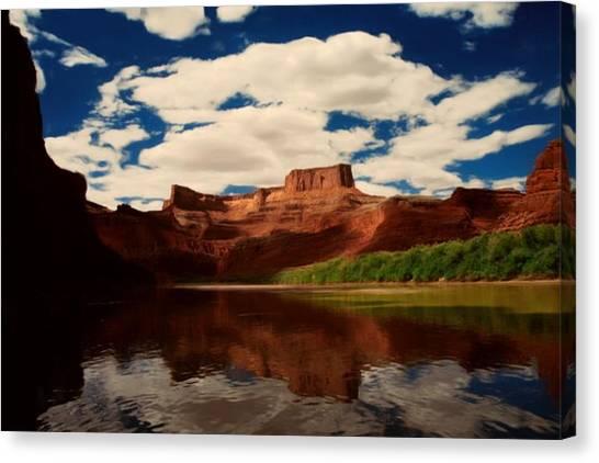 Red Mountain Canvas Print by Lori DeBruijn