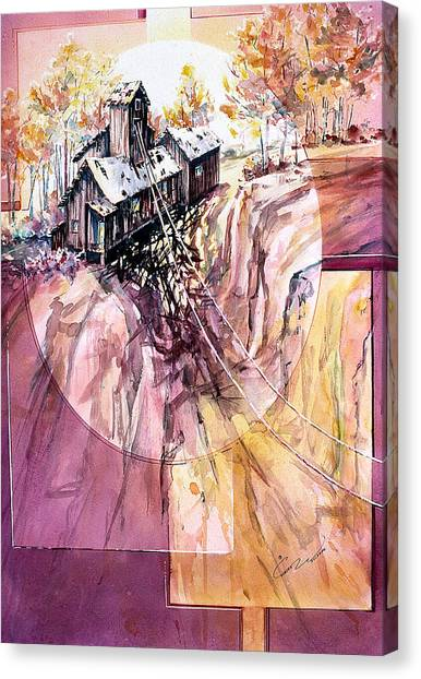 Red Mountain Mine Canvas Print