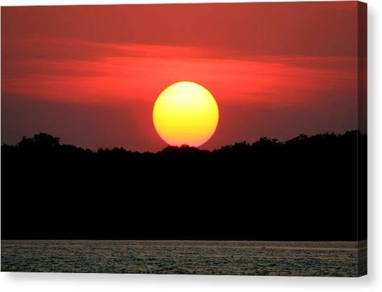 Red Myakka Sunset Canvas Print