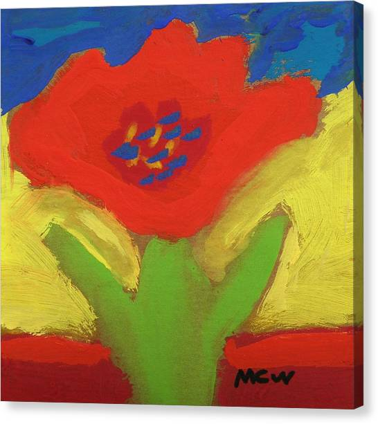 Red Number 1 Canvas Print
