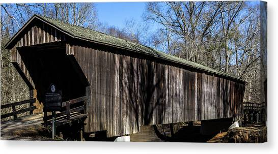 Red Oak Creek Covered Bridge Canvas Print
