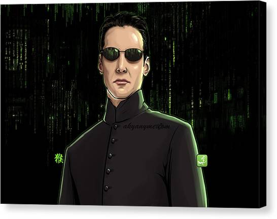 Keanu Reeves Canvas Print - Red Or Blue, Neo by Akyanyme