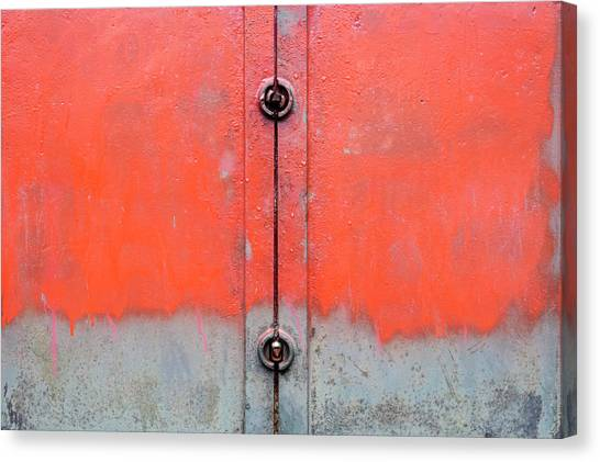 Canvas Print - Red Over Grey by Richard Nixon
