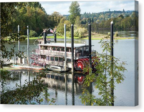 Red Paddle Wheel Canvas Print