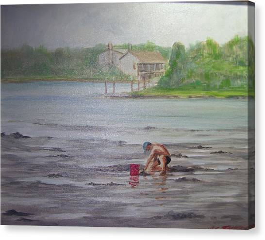 Red Pail 11 Canvas Print