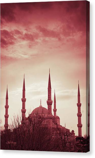 Red Peace Canvas Print