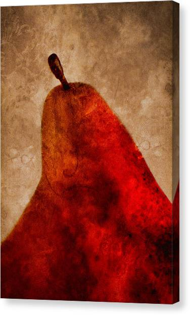Red Pear II Canvas Print
