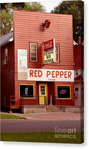 Red Pepper Restaurant Canvas Print