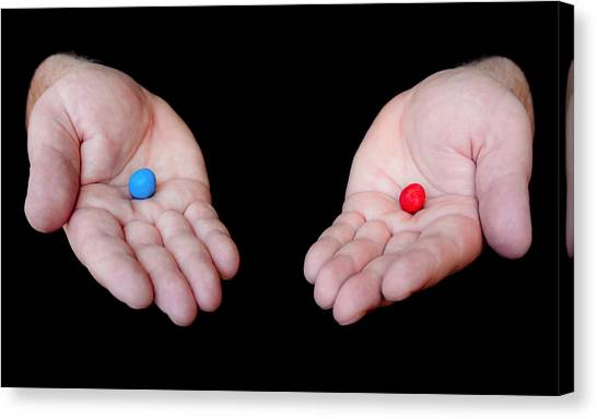 Red Pill Blue Pill Canvas Print
