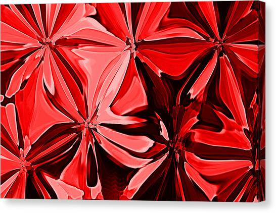 Red Pinched And Gathered Canvas Print