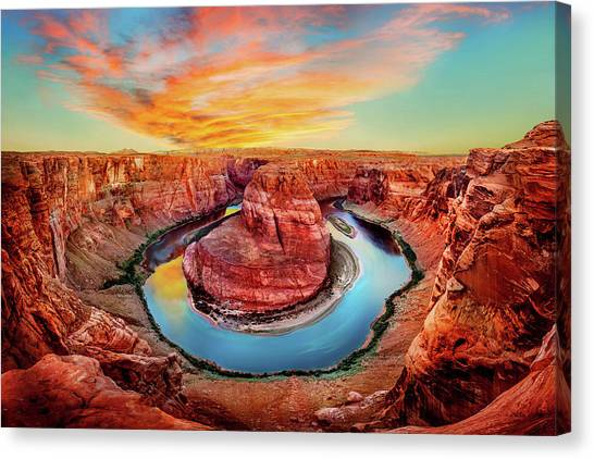 North American Canvas Print - Red Planet by Az Jackson