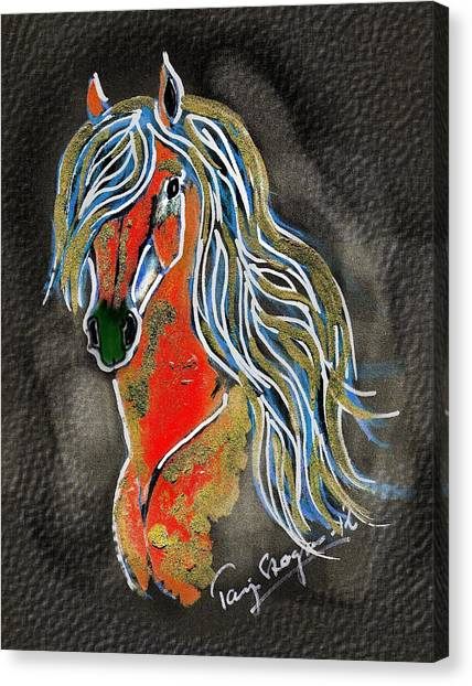 Red Pony  Canvas Print