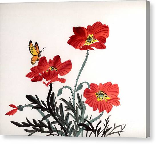 Red Poppies Canvas Print