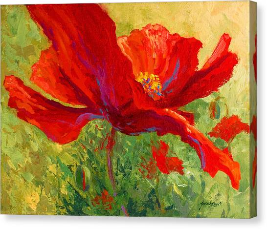 Vineyard Canvas Print - Red Poppy I by Marion Rose