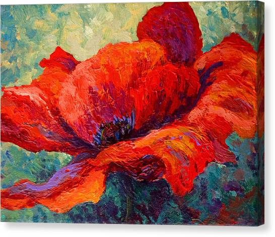 Vineyards Canvas Print - Red Poppy IIi by Marion Rose