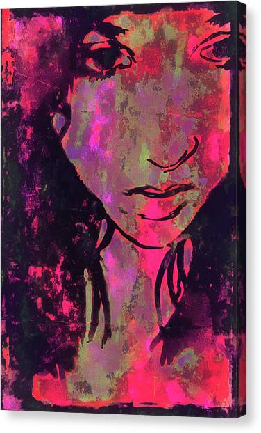 Canvas Print featuring the photograph Red Portrait by Jeff Gettis