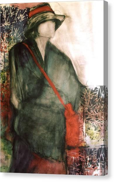 Canvas Print - Red Purse by Jane Ferguson