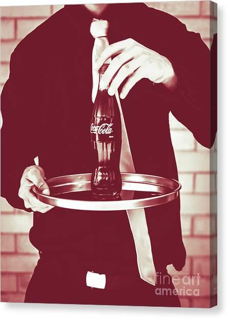 Coca Cola Canvas Print - Red Retro Coca-cola by Jorgo Photography - Wall Art Gallery