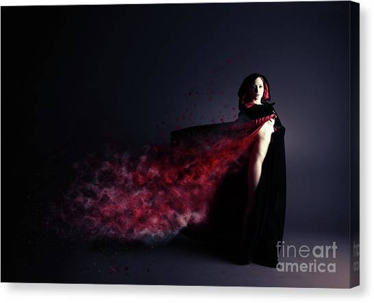 Fantasy Art Canvas Print - Red Riding Hood by Smart Aviation
