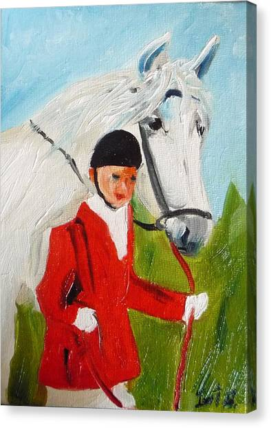Red Riding Jacket Canvas Print by Irit Bourla