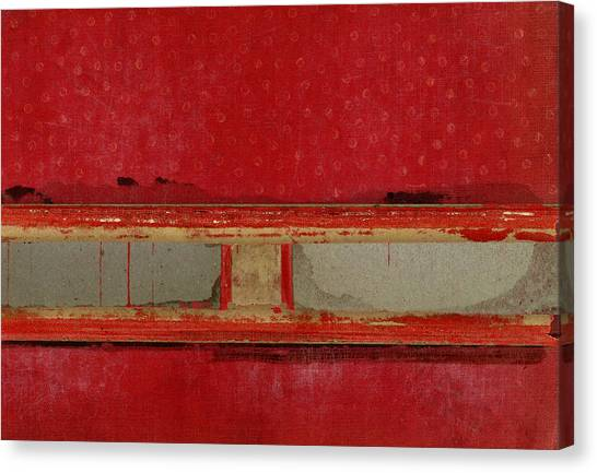 Books Canvas Print - Red Riley Collage by Carol Leigh