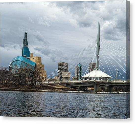 Red River At Winnipeg Canvas Print