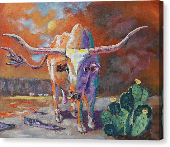 Oklahoma University Canvas Print - Red River Showdown by J P Childress