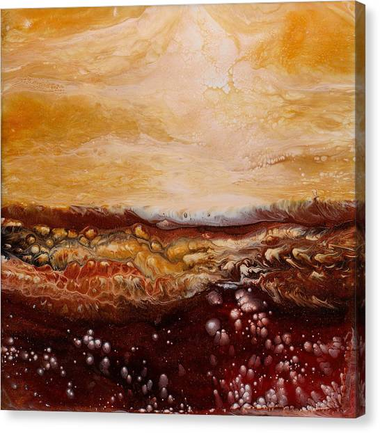 Mountain Caves Canvas Print - Red Rock 1 by Paul Tokarski