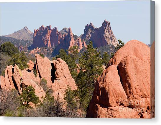 Red Rock Canyon Open Space Park And Garden Of The Gods Canvas Print
