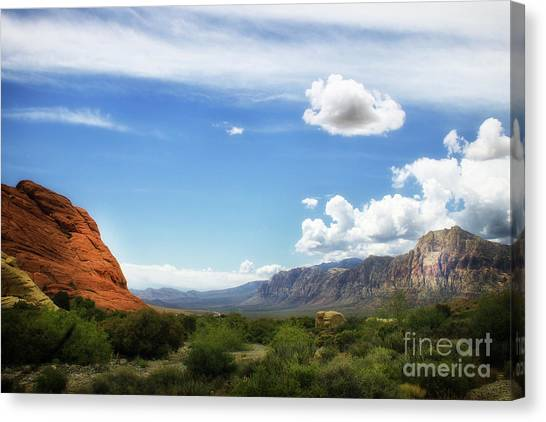 Red Rock Canyon Vintage Style Sweeping Vista Canvas Print