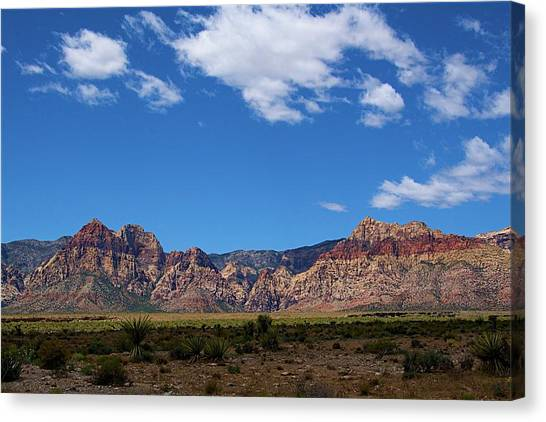 Canvas Print featuring the photograph Red Rock Caynon2 by Ralph Jones