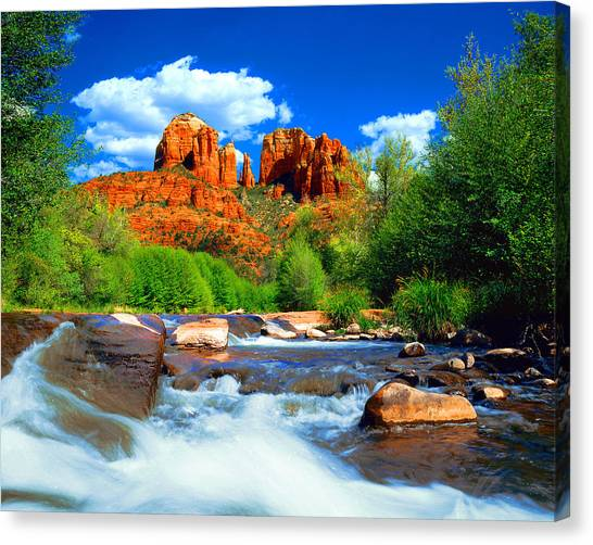 Cathedrals Canvas Print - Red Rock Crossing by Frank Houck