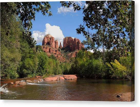 Cathedral Rock Canvas Print - Red Rock Crossing by Gordon Beck