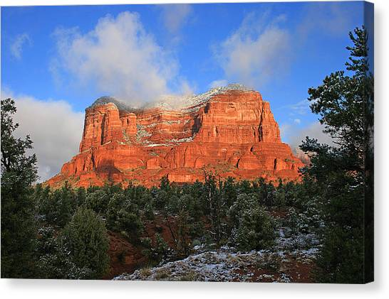 Red Rock Morning Canvas Print by Gary Kaylor