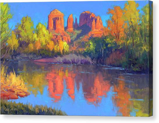 Red Rock Canvas Print - Red Rock Oasis by Cody DeLong